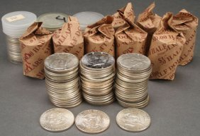 A Collection Of U.s. Silver Halves. Comprising 9