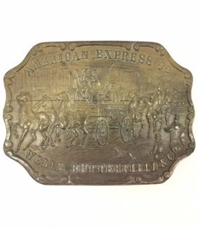 Tiffany & Co/american Express Stagecoach Belt Buck