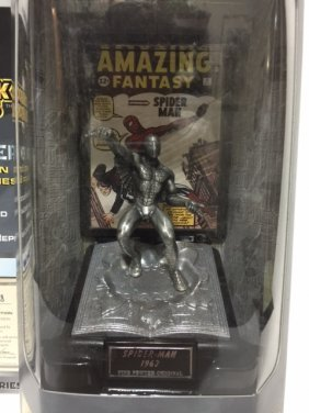 Awesome Silver Age Spider Man Fine Pewter Figure