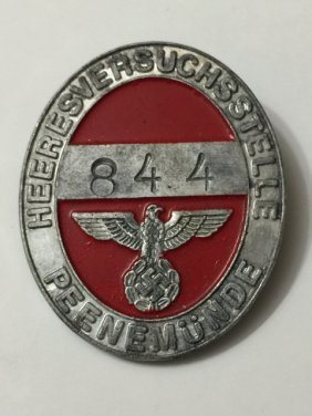 Nazi Germany Military Officer's Id/uniform Badge