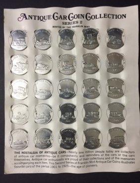 Lot Of 24 Clad Silver 1901-1925 Antique Car Coins