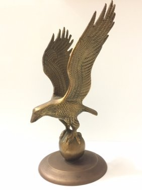 Very Early - Large Solid Etched Brass Eagle