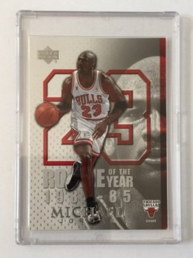 Michael Jordan 1984-85 Rookie Of The Year Card