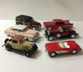 Lot Of 6 Vintage Antique Die-cast Cars