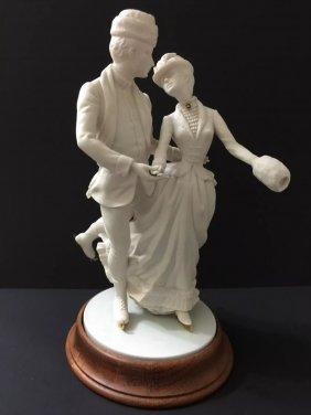 Scarce Porcelain Figurine By Ronald Van Ruyckevelt