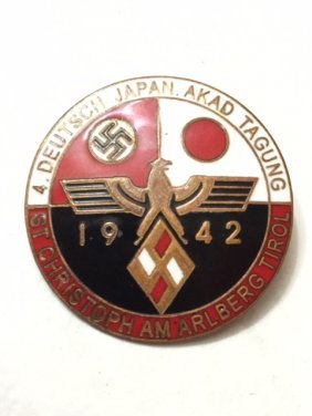 1942 Nazi Germany & Japan Enameled Alliance Pin