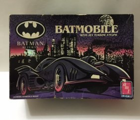 Vintage Never Built Batman Batmobile Model Kit