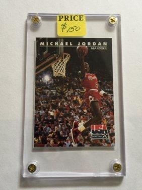 Michael Jordan Skybox Usa Nba Rookie Card