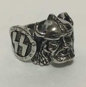 German Nazi Swastika/iron Cross Militant's Ring