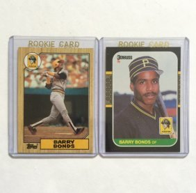 Lot Of 2 Barry Bonds Rookie Baseball Cards