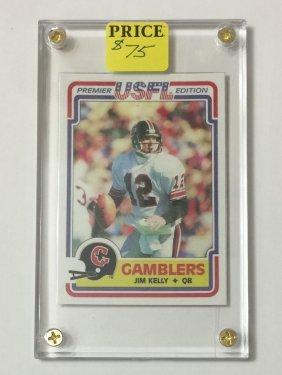 1984 Usfl Topps Jim Kelly Rookie Football Card