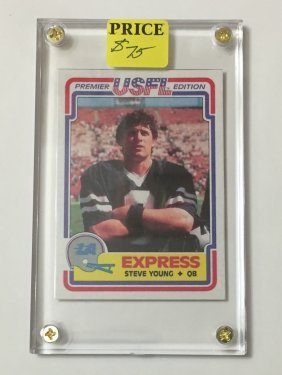 1984 Usfl Topps Steve Young Rookie Football Card