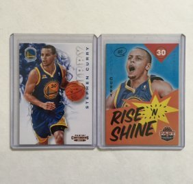 Lot Of 2 Mint Stepehen Curry Basketball Cards