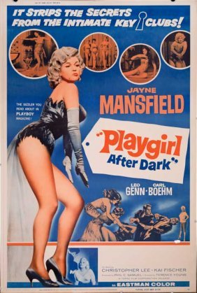 Playgirl After Dark 1962 Sexy Jayne Mansfield Poster