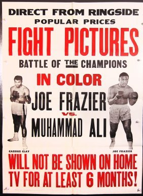 Battle Of The Champions Boxing Ali Frazier Movie Poster