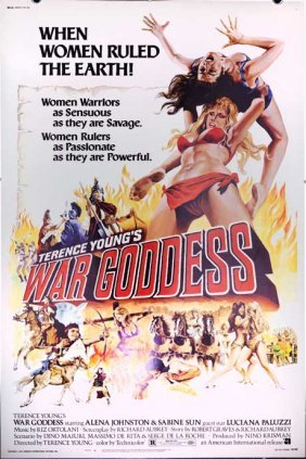 War Goddess (1974) Sexy Amazon Wrestling Poster 40x60