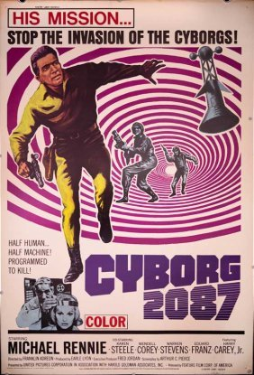 Cyborg 2087 (1966) Space Man Drive In Poster 40x60