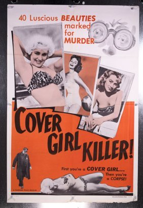 Cover Girl Killer (1960) 27x41 Burlesque Poster