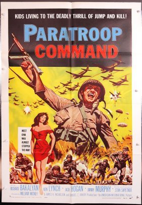Paratroop Command 1959 Movie Poster War Soldier