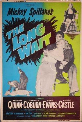 Long Wait 1954 Crime Film Noir Poster Gangster