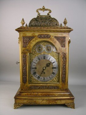 J.C. JENNENS AND SON ENGLISH MANTLE CLOCK.