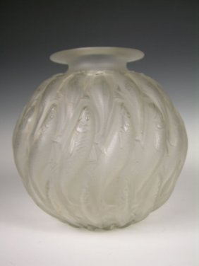 "Rene Lalique ""Marisa"" Vase, Decorated With Swimmin"
