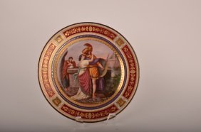 "Royal Vienna Porcelain Cabinet Plate Marked ""Hektor"