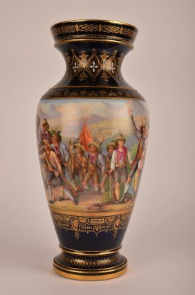Royal Vienna Vase, Signed E. Latterman.