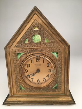 "Tiffany Furnaces ""twisted Rope"" Desk Clock."