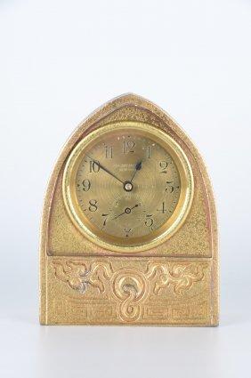 "Tiffany Studios ""chinese"" Desk Clock."