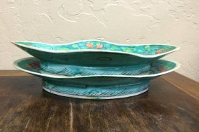 Blue Green Serving Dish