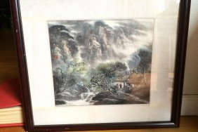 Chinese Painting Waterfall