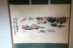 Scroll Of Bird Painting