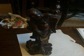 Antique Rosewood Statue