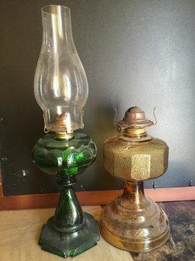 2 American Antique Oil Lamp