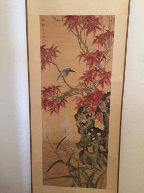 Chinese Scroll Hand Painted