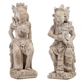 Indonesian School, Bali - Pair Of Fantastic Figures