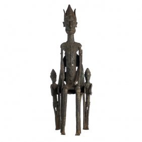 Dogon - Figure Of Dignitary With Acolytes