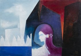 Candido Costa Pinto (1911-1977) - 'face And Figure