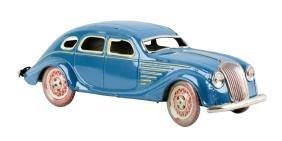 Spanish Paiya Tin Litho Wind-Up Automobile Toy.