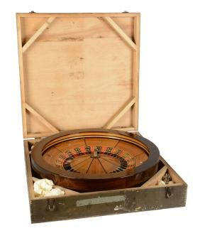 Roulette Wheel With Crate.