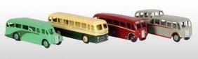 Lot Of 4: Dinky Toys Die-Cast Buses.