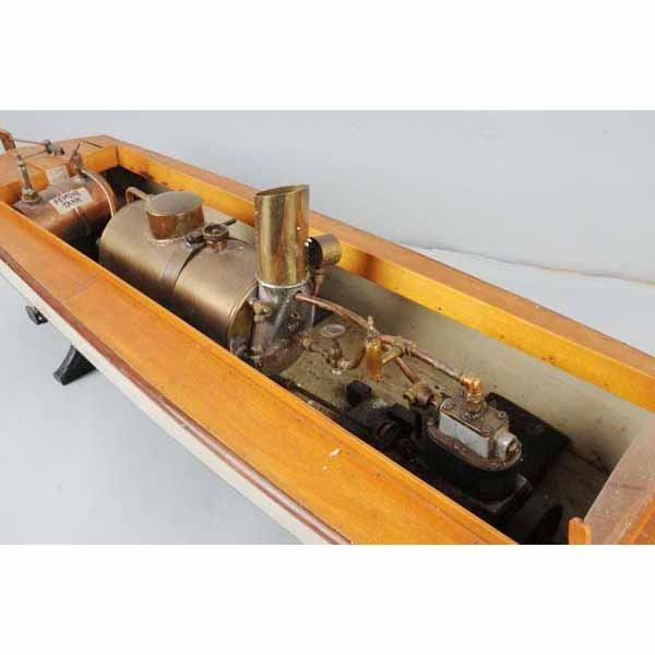 1817: Wooden Boucher Live Steam Boat Toy. : Lot 1817