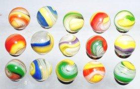 Lot Of 15: Akro Popeye Marbles.