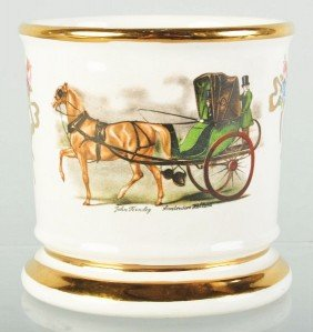 Horse-Driven Open Carriage Shaving Mug.