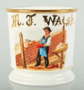 Bricklayer Shaving Mug.