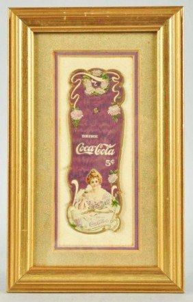 Embossed Cardboard Coca-Cola Bookmark.