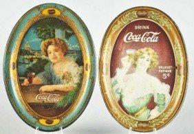 1907 & 1909 Coca-Cola Change Trays.