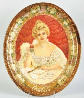 1903 Large Oval Coca-Cola Serving Tray.