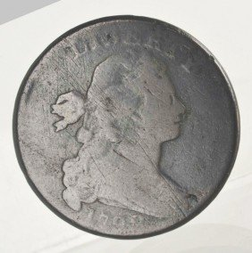 1798 Large Cent Draped Bust F/VF.